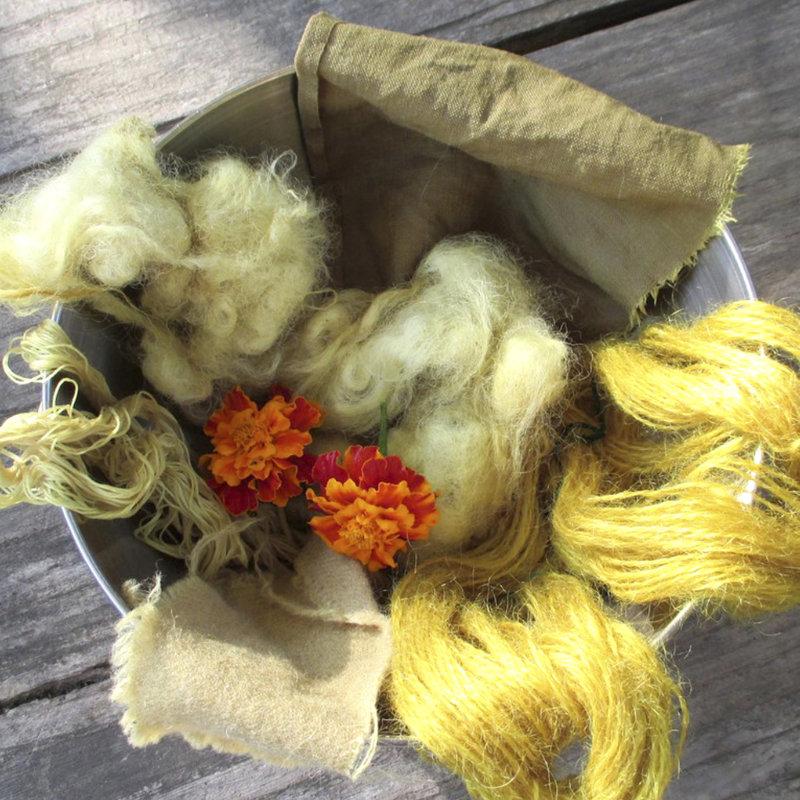 echantillons - teintures naturelles - natural dyeing